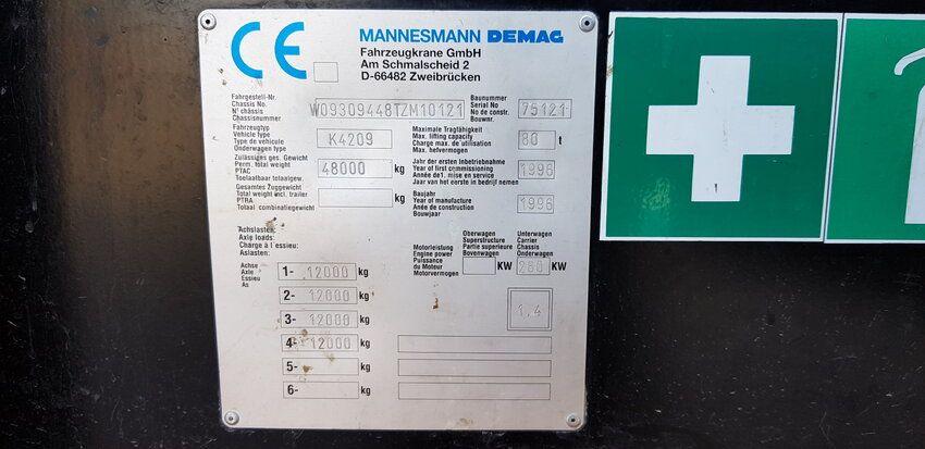 AC205 (1996 | EURO 1 | 80 T | JIB | MERCEDES) - AC205 (1996 | EURO 1 | 80 T | JIB | MERCEDES)